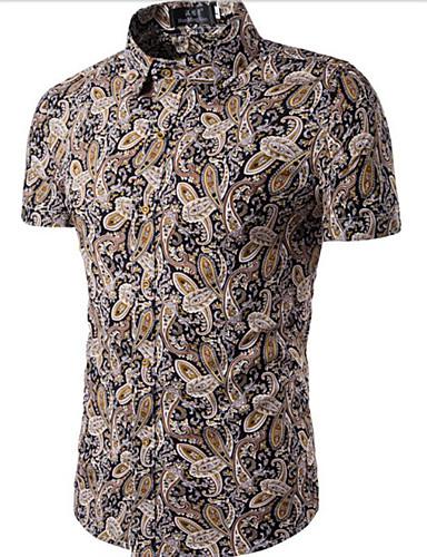 Men's Chinoiserie Shirt - Floral / Short Sleeve