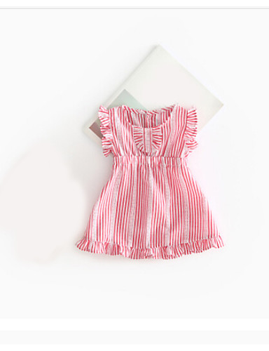 Baby Girl's Casual Going out Dress Holiday Solid Colored Dress