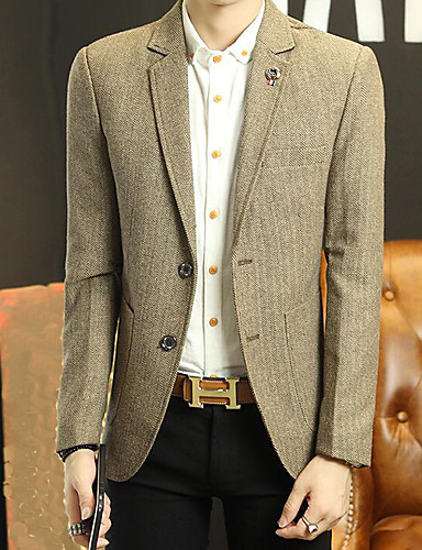 Men's Casual/Daily Work Casual Spring/Fall Blazer