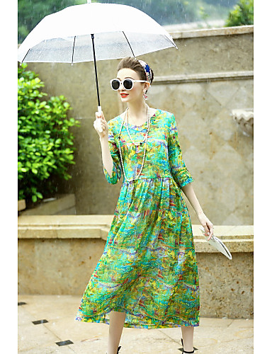Women's Holiday Going out Daily Vintage Sophisticated Loose Swing Dress