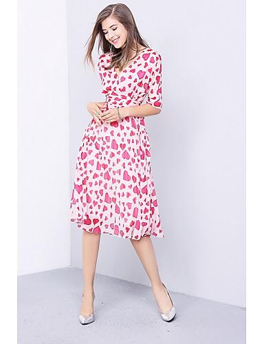 Women's Going out Daily Simple Cute Chiffon Swing Dress