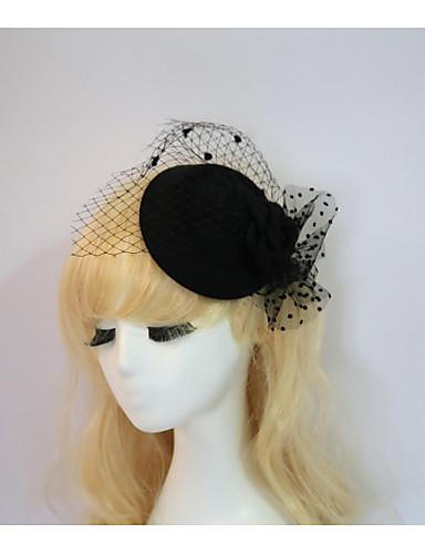 abordables Chapeau & coiffure-Résine / Coton Fascinators / Chapeaux avec 1 Mariage / Occasion spéciale / Halloween Casque