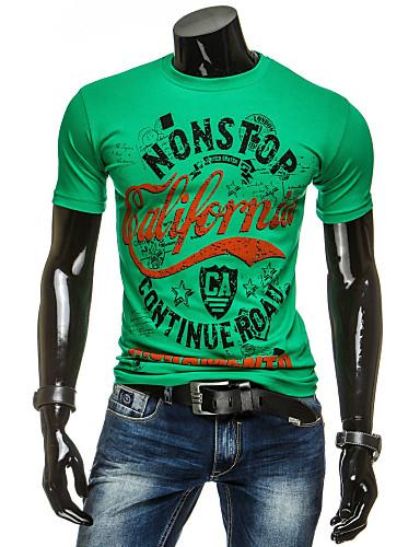 Miesten Pyöreä kaula-aukko Puuvilla Yhtenäinen Kineseria T-paita