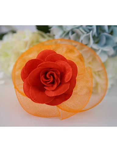 billige Hatte & Imponeringer-Edelsten og krystall / Tyll / Nett fascinators / blomster / Hatter med Krystall / Fjær 1 Bryllup / Spesiell Leilighet / Halloween Hodeplagg