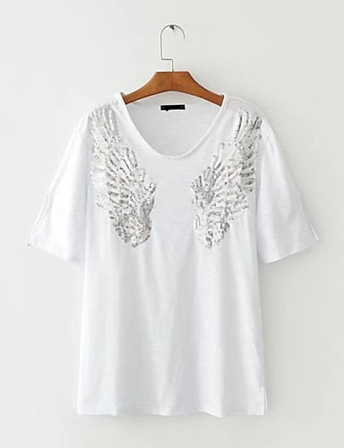 Women's Holiday Going out Daily Casual Sexy Street chic Summer Fall T-shirt