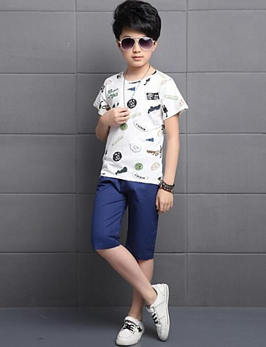 Boys' Print Sets,Cotton Summer Clothing Set