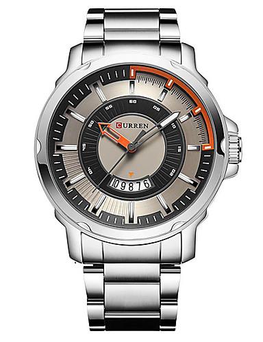 Homens Relógio Elegante Relógio de Moda Relógio Esportivo Japanês Quartzo Relógio Casual Aço Inoxidável Banda Casual Preta Prata