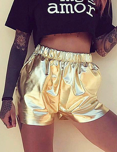 Women's High Rise Micro-elastic Active Slim Shorts Pants,Active Active Slim Shorts Solid