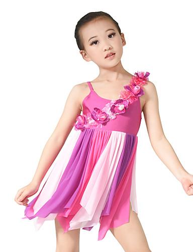 1f8f6b9e8 Ballet Vestidos Mujer Niños Representación Licra Plisado Sin mangas Cintura  Alta