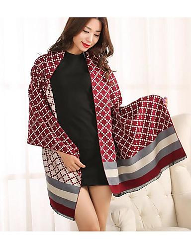 Women's Silk Cotton Bamboo Fiber Rectangle Print Summer