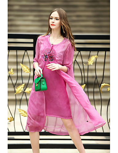 Women's Holiday Daily Chinoiserie A Line Dress