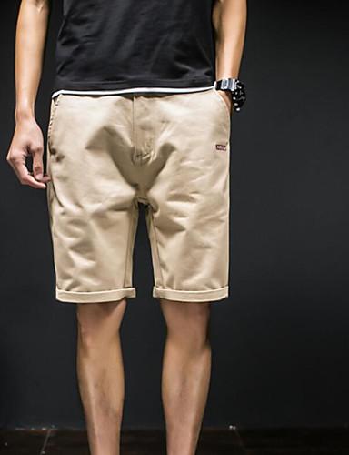 Herren Freizeit Mittlere Hüfthöhe Mikro-elastisch Lose Kurze Hosen Hose Sommer Solide