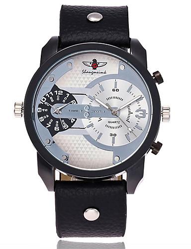 Herrn Quartz Armbanduhr Militäruhr Sportuhr Chinesisch Großes Ziffernblatt Leder Band Charme Luxus Freizeit Einzigartige kreative Uhr