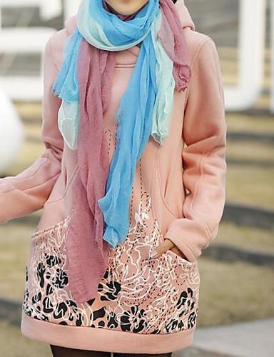 Damen Kapuzenshirt Lässig/Alltäglich Einfach Solide Druck Dehnbar Baumwolle Polyester Lange Ärmel Winter