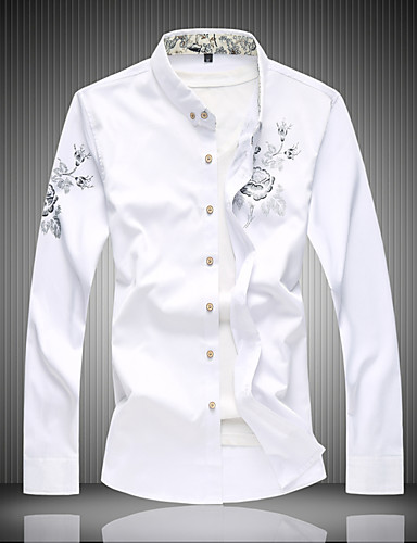 Men's Active Cotton Shirt - Solid Colored Print