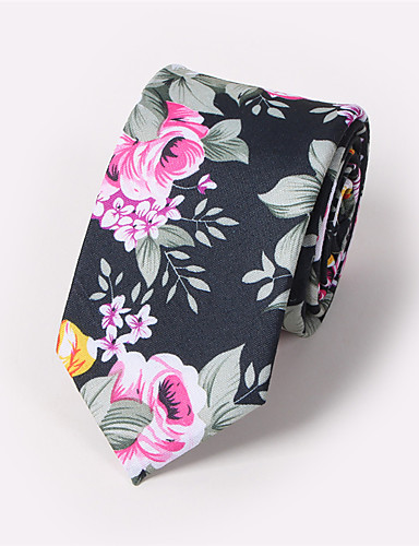 Men's Neckwear Cotton Necktie - Floral Print