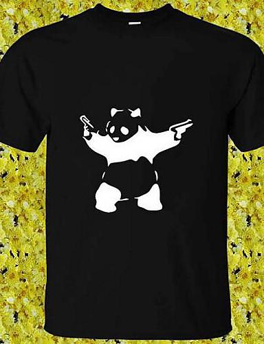 Herren Solide Druck Einfach Lässig/Alltäglich T-shirt,Rundhalsausschnitt Kurzarm Baumwolle