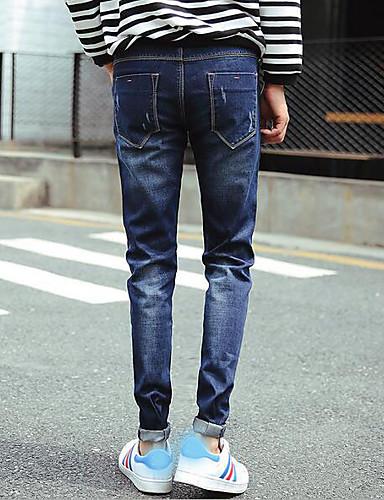 Herren Einfach Mittlere Hüfthöhe Mikro-elastisch Eng Schlank Hose Solide