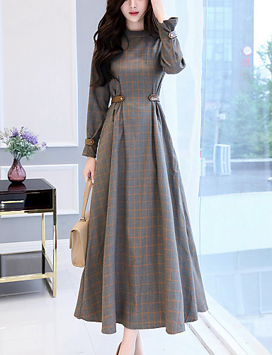 Women's Party Going out Casual Swing Maxi Dress, Check ...