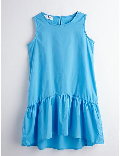 Mädchen Solide Ärmellos Kleid