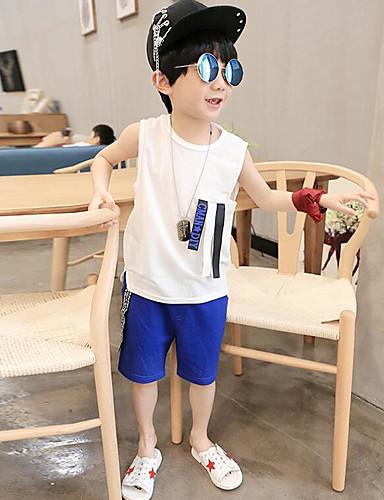 Jungen Sets einfarbig Baumwolle Sommer Kleidungs Set
