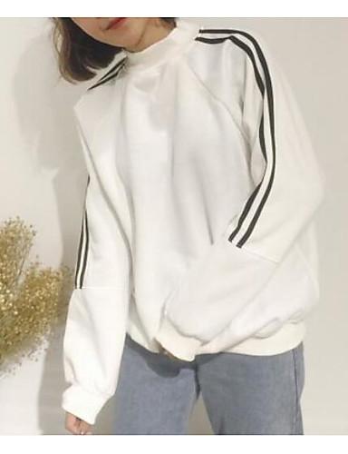 Damen Pullover Lässig/Alltäglich Solide Rundhalsausschnitt Mikro-elastisch Baumwolle Lange Ärmel Herbst