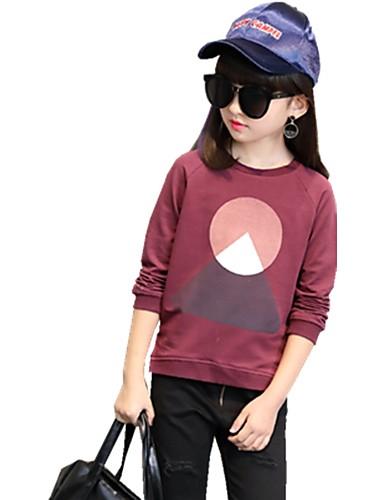 Mädchen T-Shirt Druck Baumwolle Herbst Ganzjährig ¾ Ärmel Normal