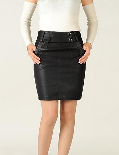 Damen Einfach Ausgehen Klub Mini Röcke Bodycon,Leinen Solide Frühling Sommer