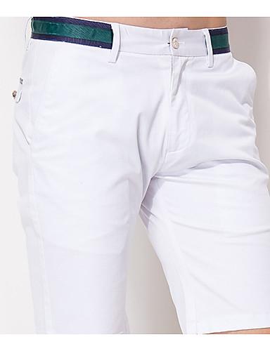 Herren Einfach Mittlere Hüfthöhe Mikro-elastisch Kurze Hosen Gerade Hose Solide