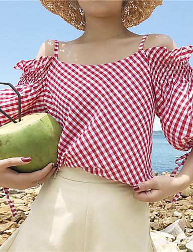 للمرأة قميص كاجوال طباعة مع حمالة