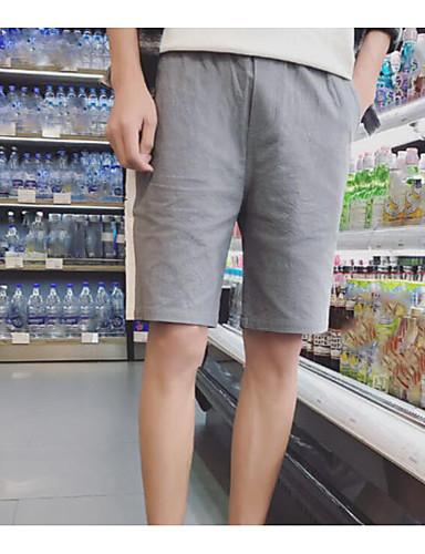 Herren Einfach Mittlere Hüfthöhe Mikro-elastisch Lose Kurze Hosen Lose Kurze Hosen Hose Solide Geometrisch