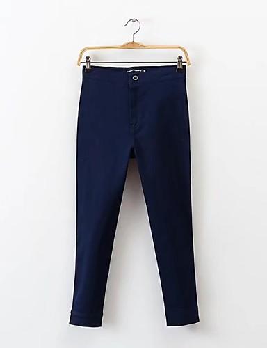 Damen Street Schick Hohe Hüfthöhe Mikro-elastisch Schlank Jeans Hose Frühling Sommer Herbst Solide