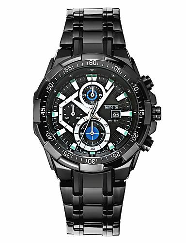 Herrn Sportuhr Modeuhr Einzigartige kreative Uhr Armbanduhren für den Alltag Chinesisch Quartz Kalender Wasserdicht Edelstahl Band