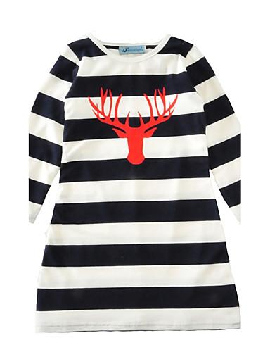 Baby Mädchen Streifen Gestreift Langarm Kleid