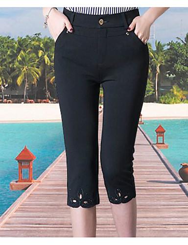 Damen Einfach Mittlere Hüfthöhe Mikro-elastisch Kurze Hosen Skinny Hose Solide