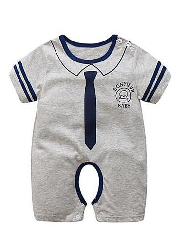 Baby Einzelteil Streifen Baumwolle Sommer Marineblau Grau