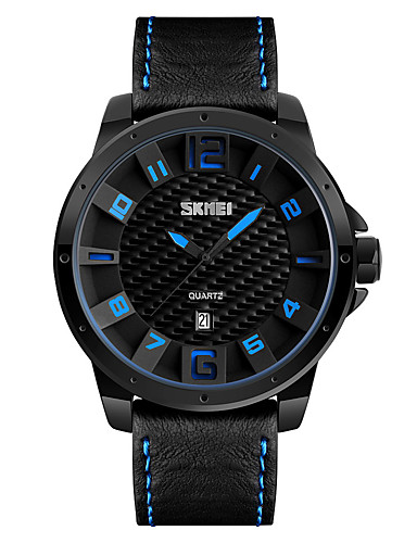 SKMEI Men's Wrist Watch Japanese Calendar / date / day / Water Resistant / Water Proof / Cool Leather Band Casual / Fashion / Dress Watch Multi-Colored