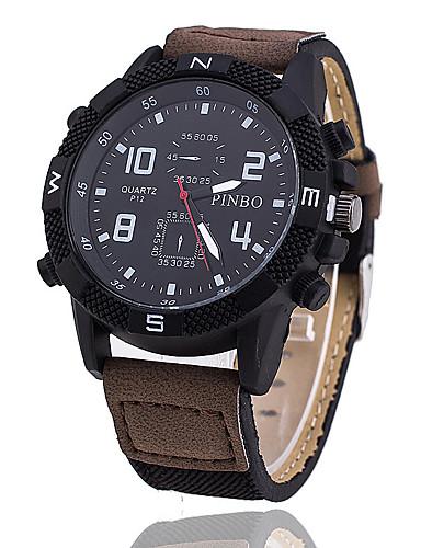 Herrn Einzigartige kreative Uhr Armbanduhr Militäruhr Modeuhr Sportuhr Armbanduhren für den Alltag Chinesisch Quartz PU Band Retro