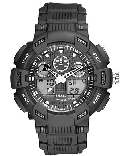 Herrn Quartz digital Digitaluhr Armbanduhr Smartwatch Militäruhr Sportuhr Chinesisch Alarm Kalender Wasserdicht LED Großes Ziffernblatt