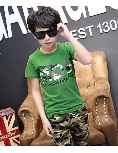 Jungen Sets Streifen einfarbig Baumwolle Sommer Kleidungs Set