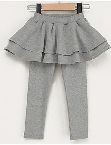 Mädchen Hose einfarbig Baumwolle Frühling