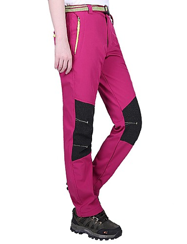 cheap Hiking Trousers & Shorts-Women's Hiking Pants Outdoor Windproof Breathability Wearable Winter Pants / Trousers Hunting Ski / Snowboard Hiking Black Purple Fuchsia XL XXL XXXL