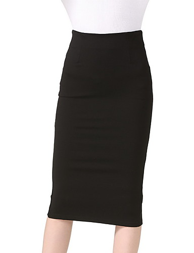 Women's Holiday / Going out / Club Bodycon Skirts - Solid Colored