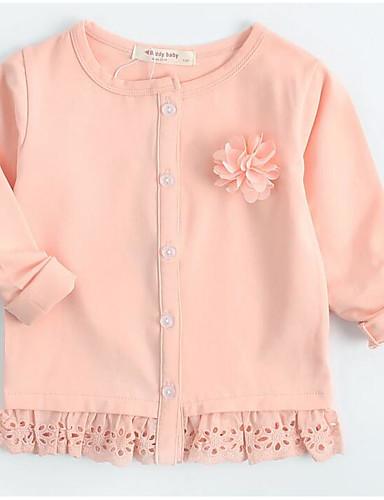 Mädchen Bluse einfarbig Baumwolle Herbst