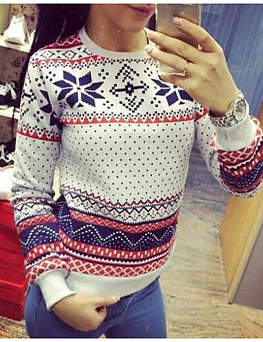 Damen Freizeit Aktiv Boho Lang Pullover Solide Baumwolle