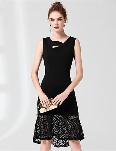 Women's Cotton Sheath / Shirt Dress - Solid Colored V Neck