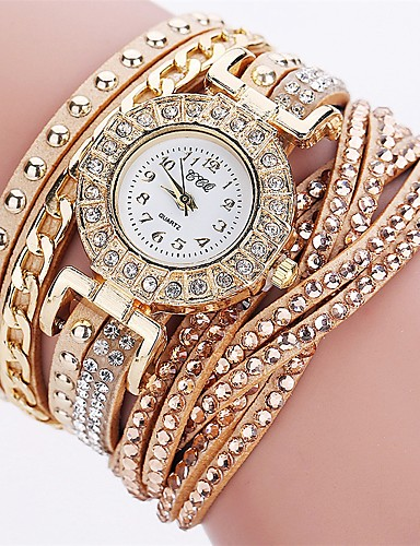 Women's Bracelet Watch Chinese Imitation Diamond PU Band Charm / Luxury / Casual Black / White / Red / One Year / SSUO LR626