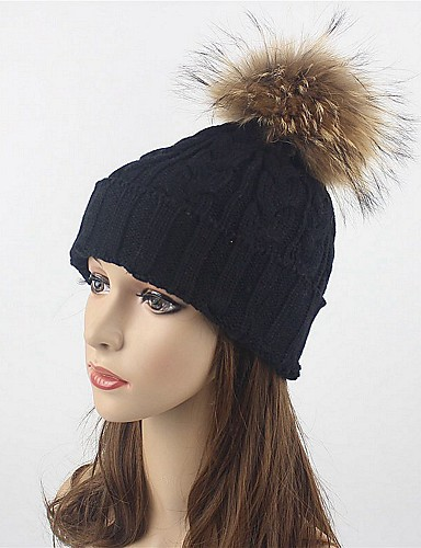 b271d2ed380 Women s Hat   Knitwear Wool Floppy Hat   Ski Hat - Solid Colored Pure Color