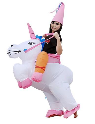 abordables Cosplay & Disfraces-Montar un Unicornio Adulto Navidad Halloween Carnaval Festival / Celebración Poliéster Traje carnaval Animal