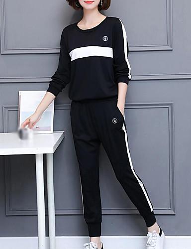 abordables Hauts pour Femmes-Femme Simple Sweat à capuche - Imprimé Taille Haute Pantalon / Automne